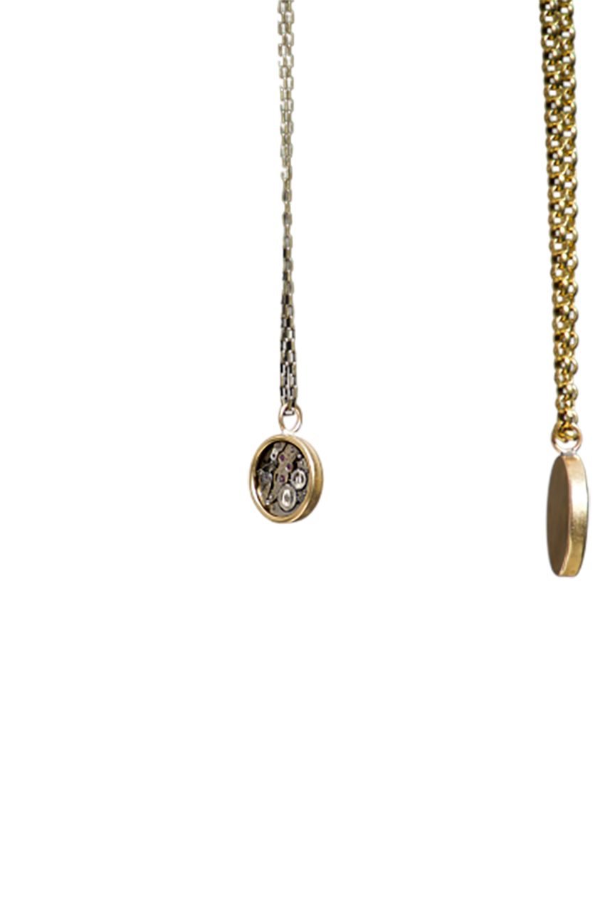 Golden colored locket transparent background PNG