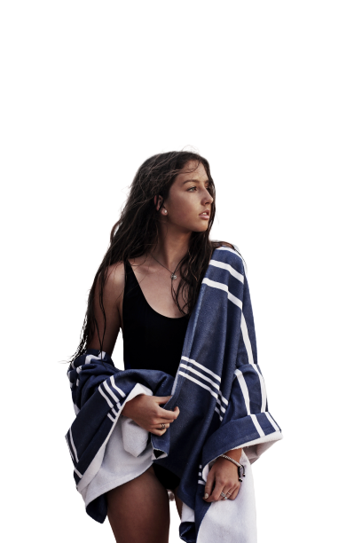 Girl having Shawl with the shorts Transparent Background PNG