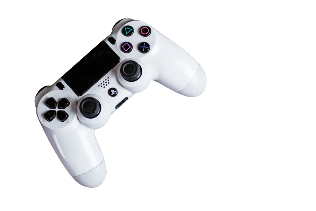 White PS4 Controller Transparent Background PNG