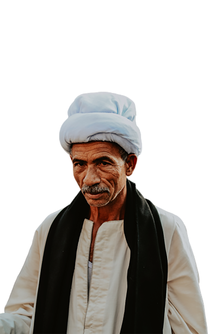 Old man with a white cap transparent background PNG