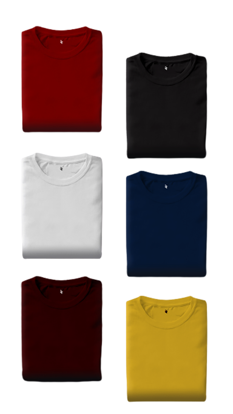 T-shirts of different color