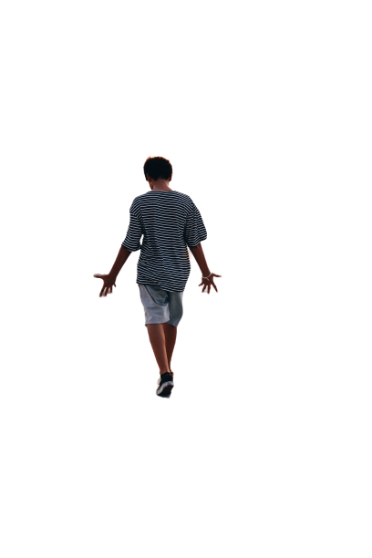 Sportsman pic from back transparent background PNG