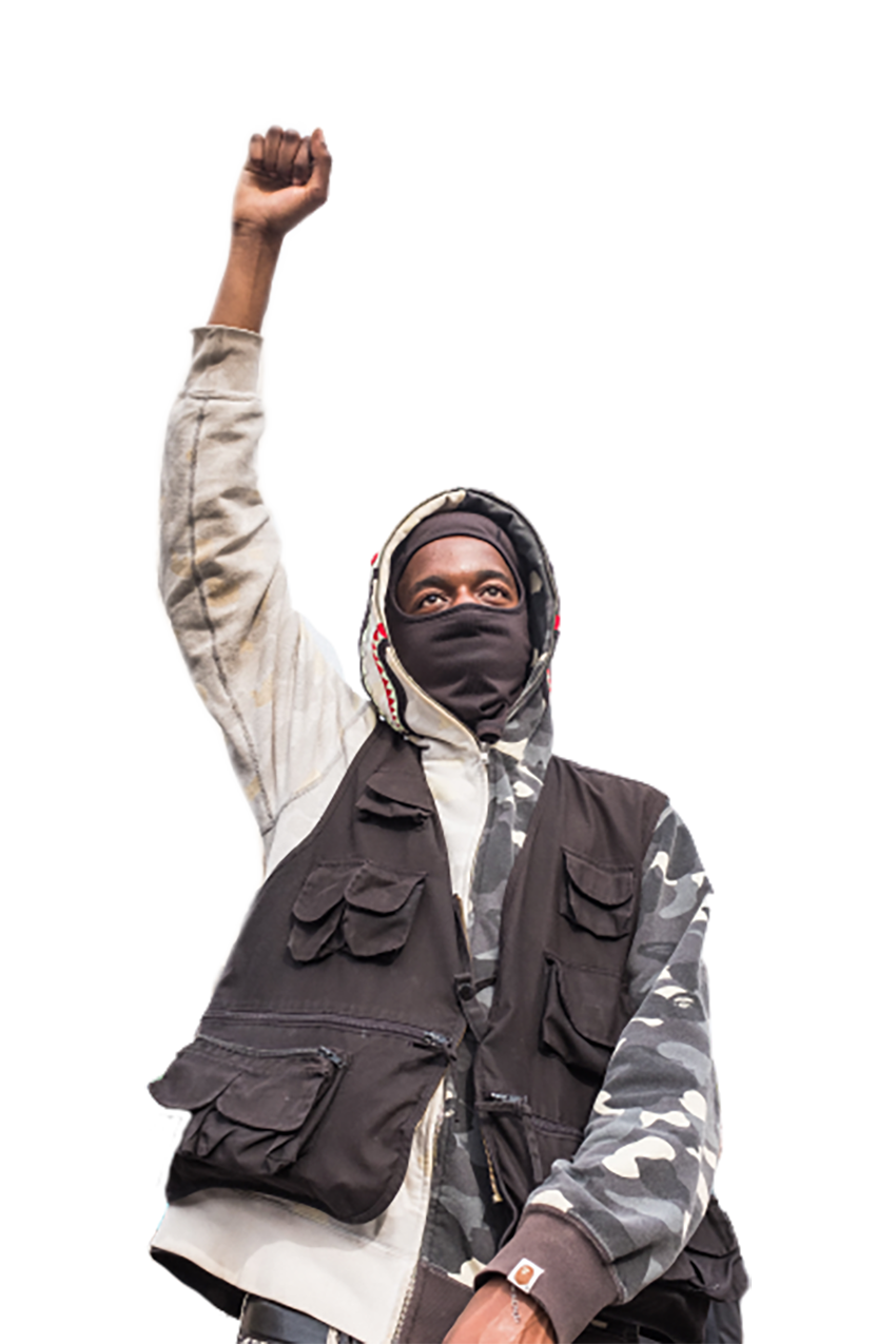 A guy is in a movement transparent background PNG