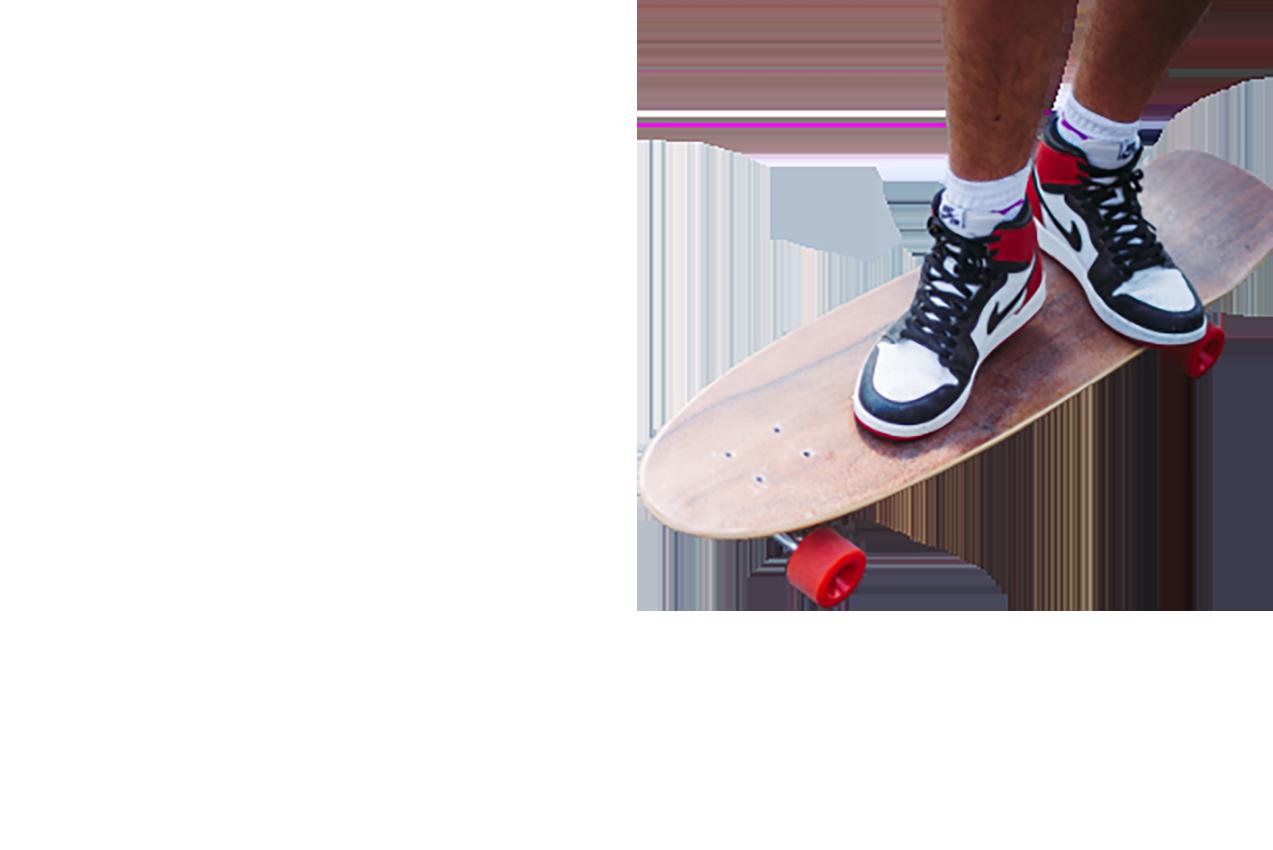 Man on a skateboard transparent background PNG