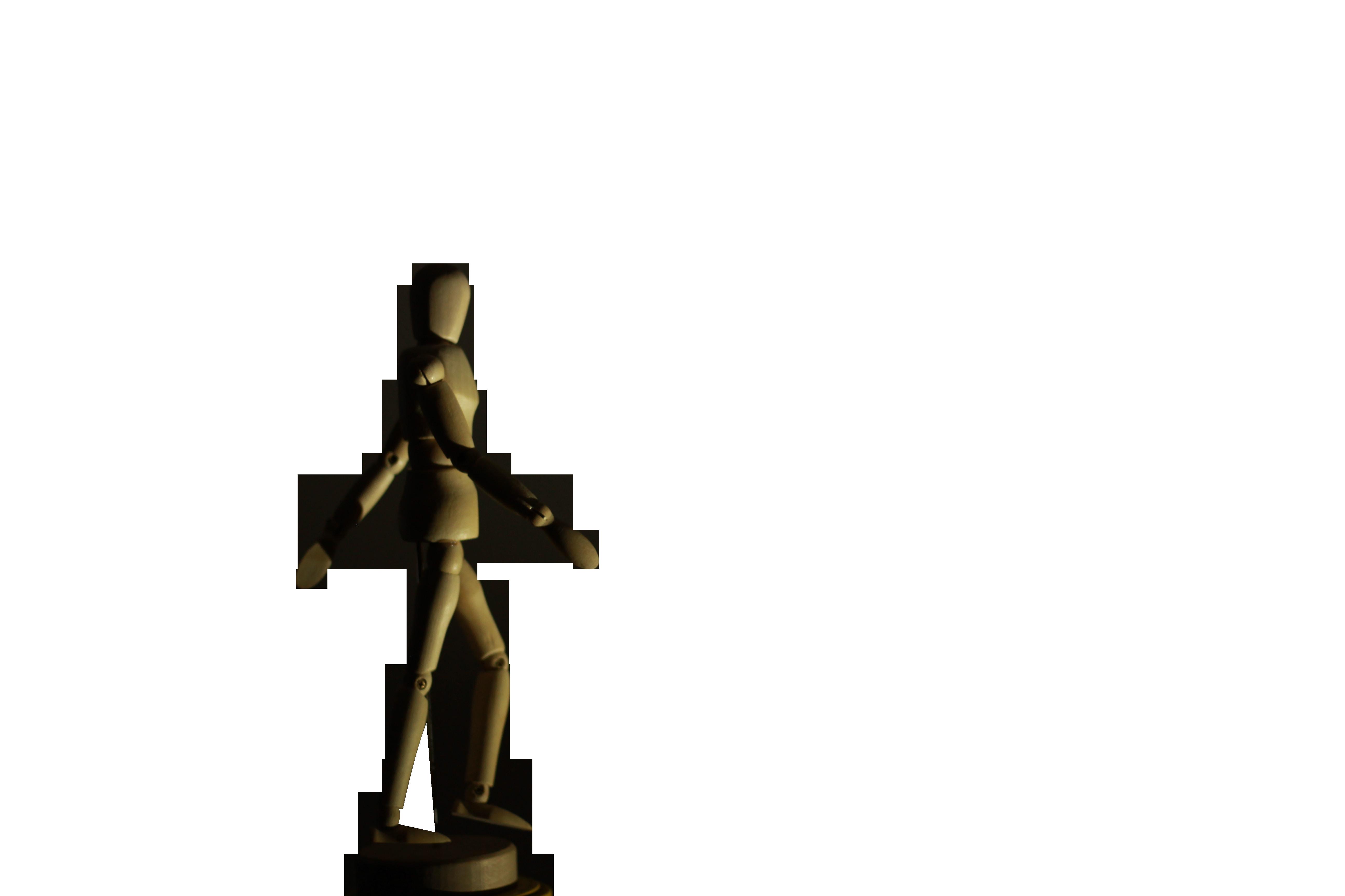 Wooden Man Transparent Background PNG
