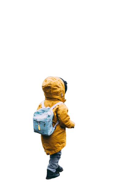 Kid going school with bag Transparent Background PNG