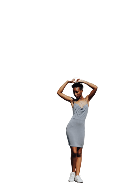 Girl with curved body Transparent Background PNG
