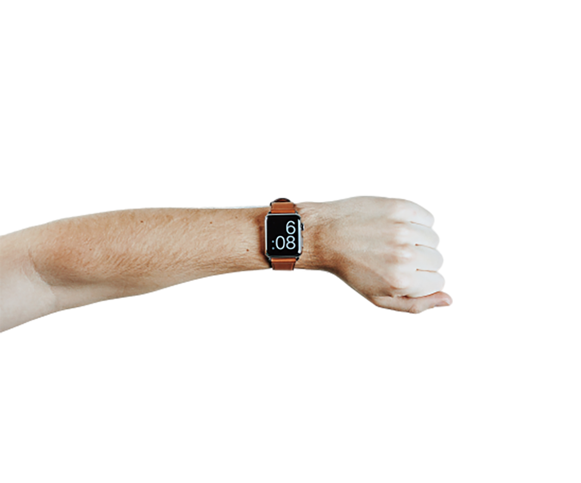 Smartwatch in hand transparent background PNG