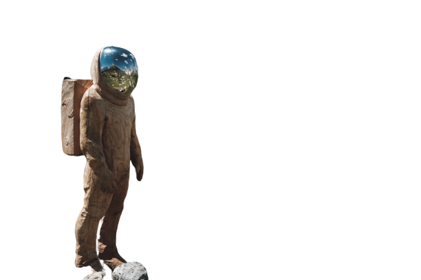 Man on stars transparent background PNG