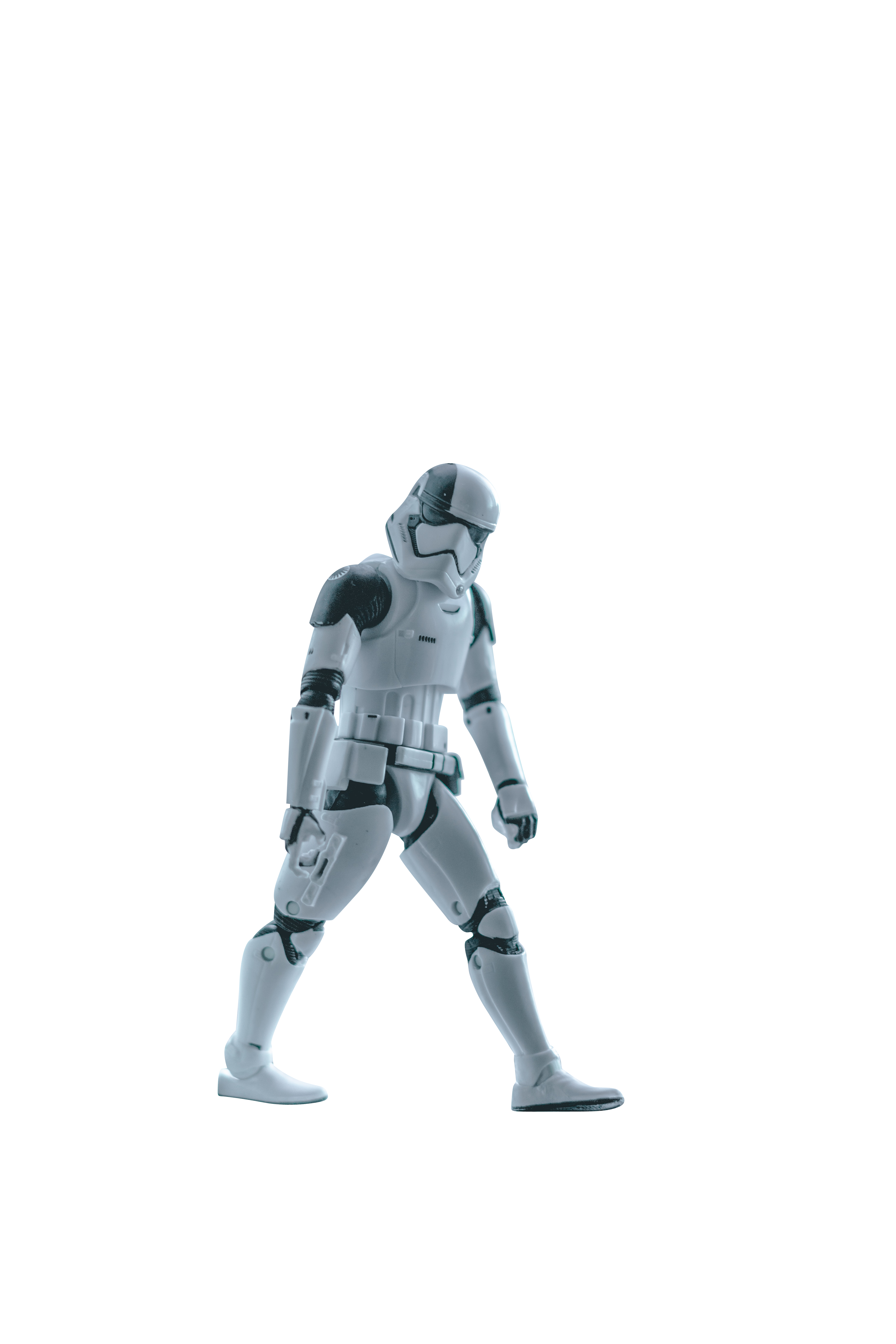 Storm Trooper walking forward Transparent Background PNG