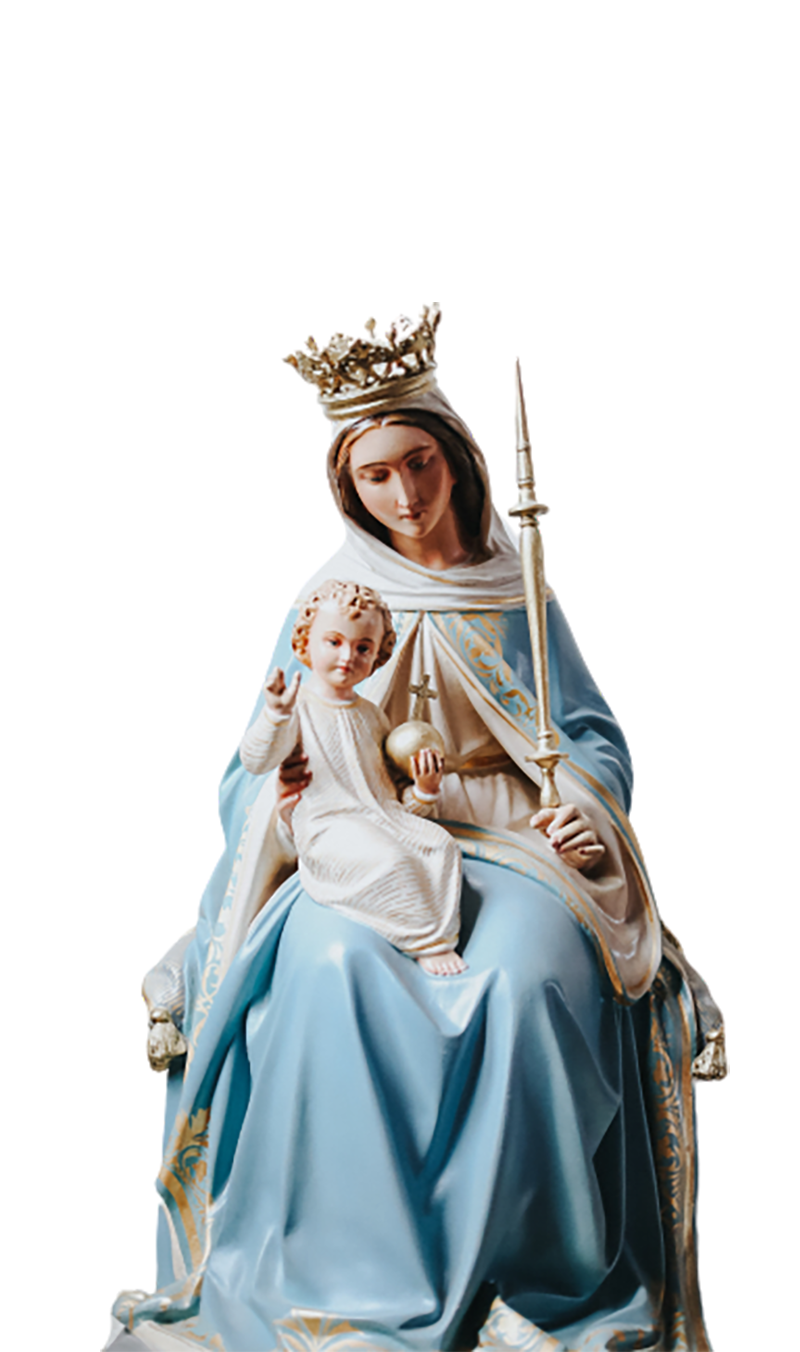 Statue of a princess and her son transparent background PNG