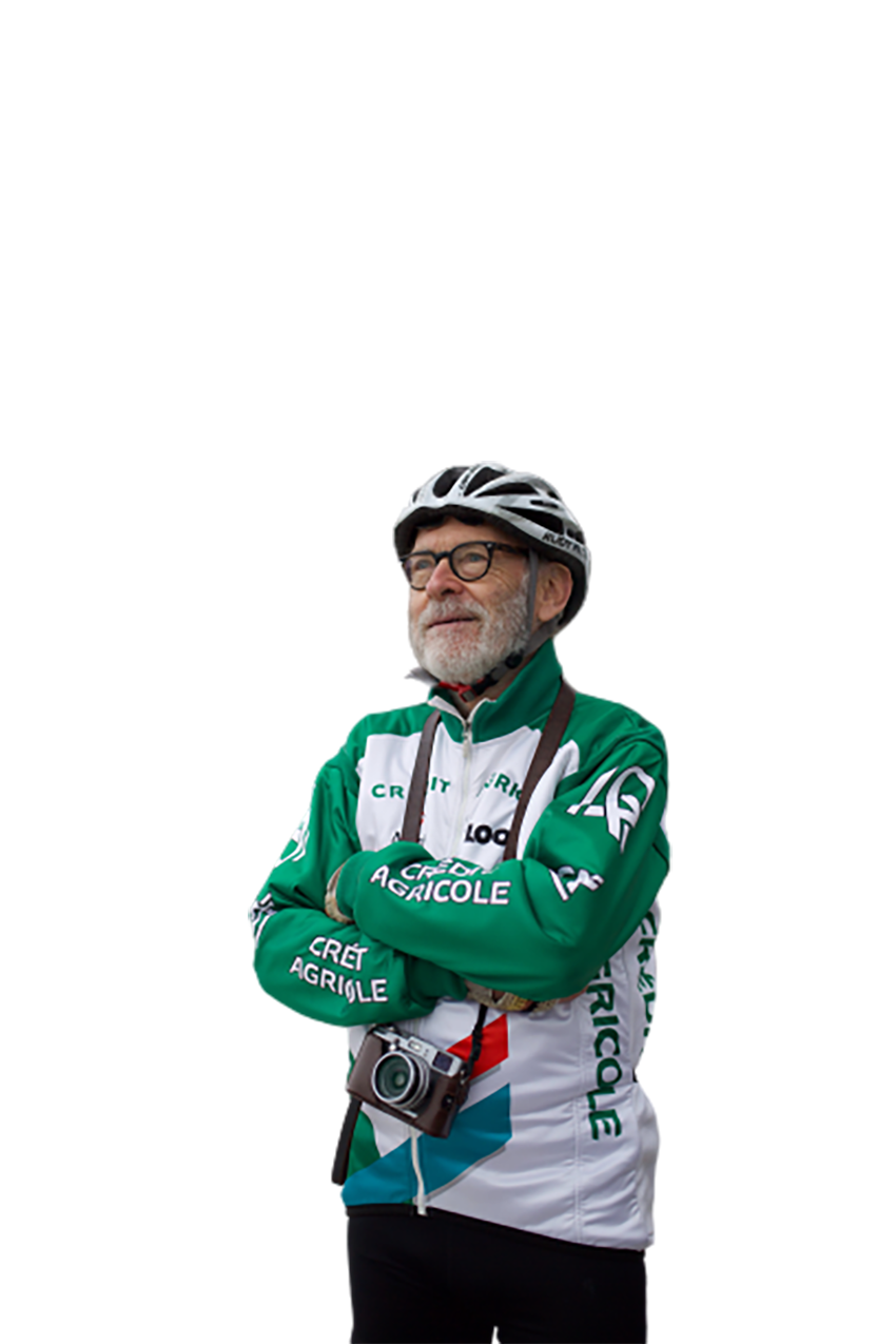 An Old Cyclist transparent background PNG