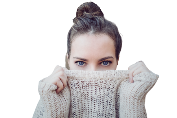 girl with blue eyes transparent background PNG