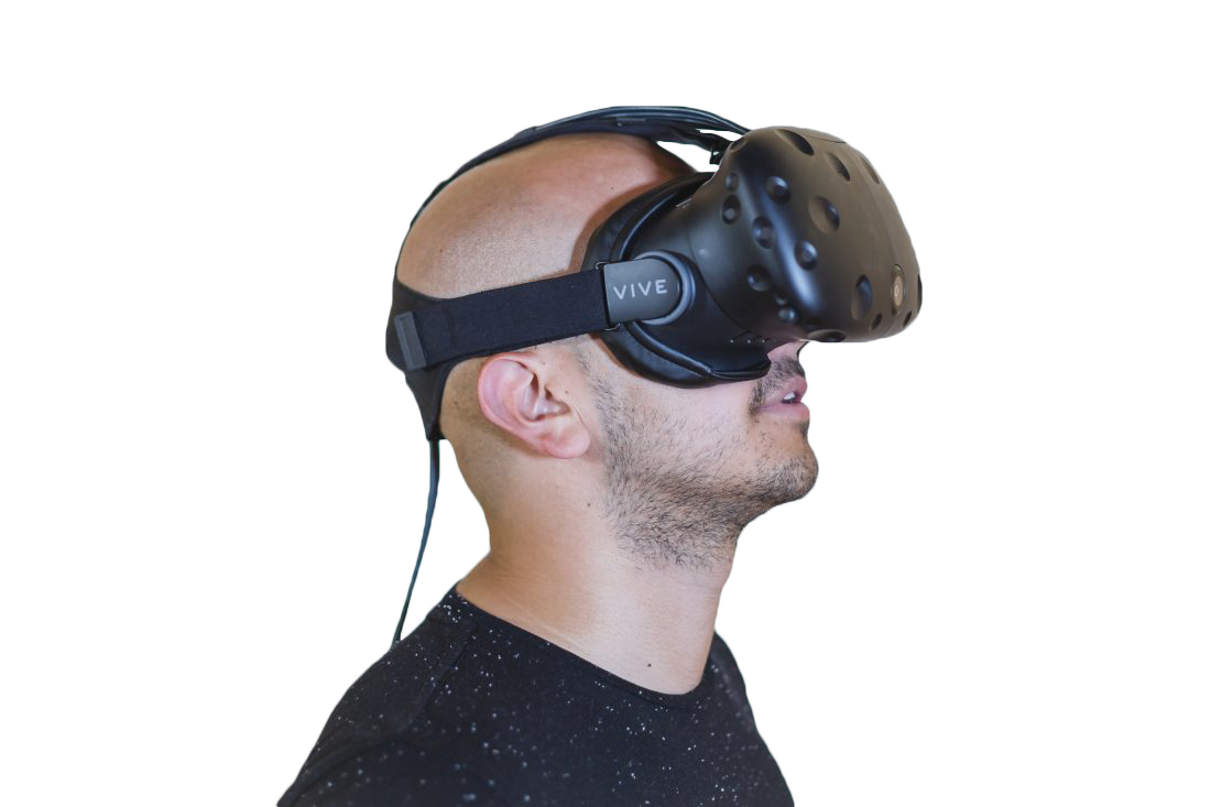 Person using VR Transparent Background PNG