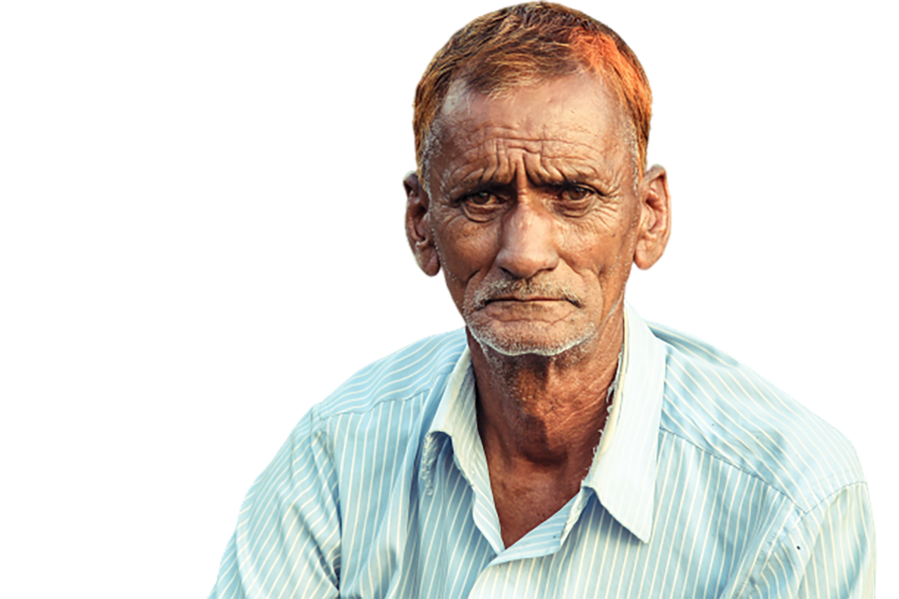 A brown-haired old man transparent background PNG