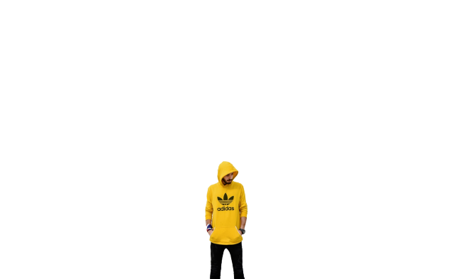 yellow adidas shirt boy transparent background PNG