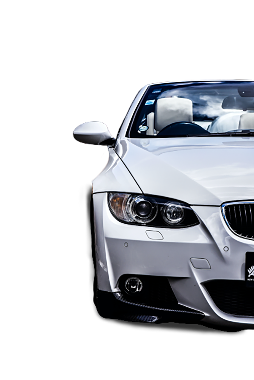 A White car transparent background PNG