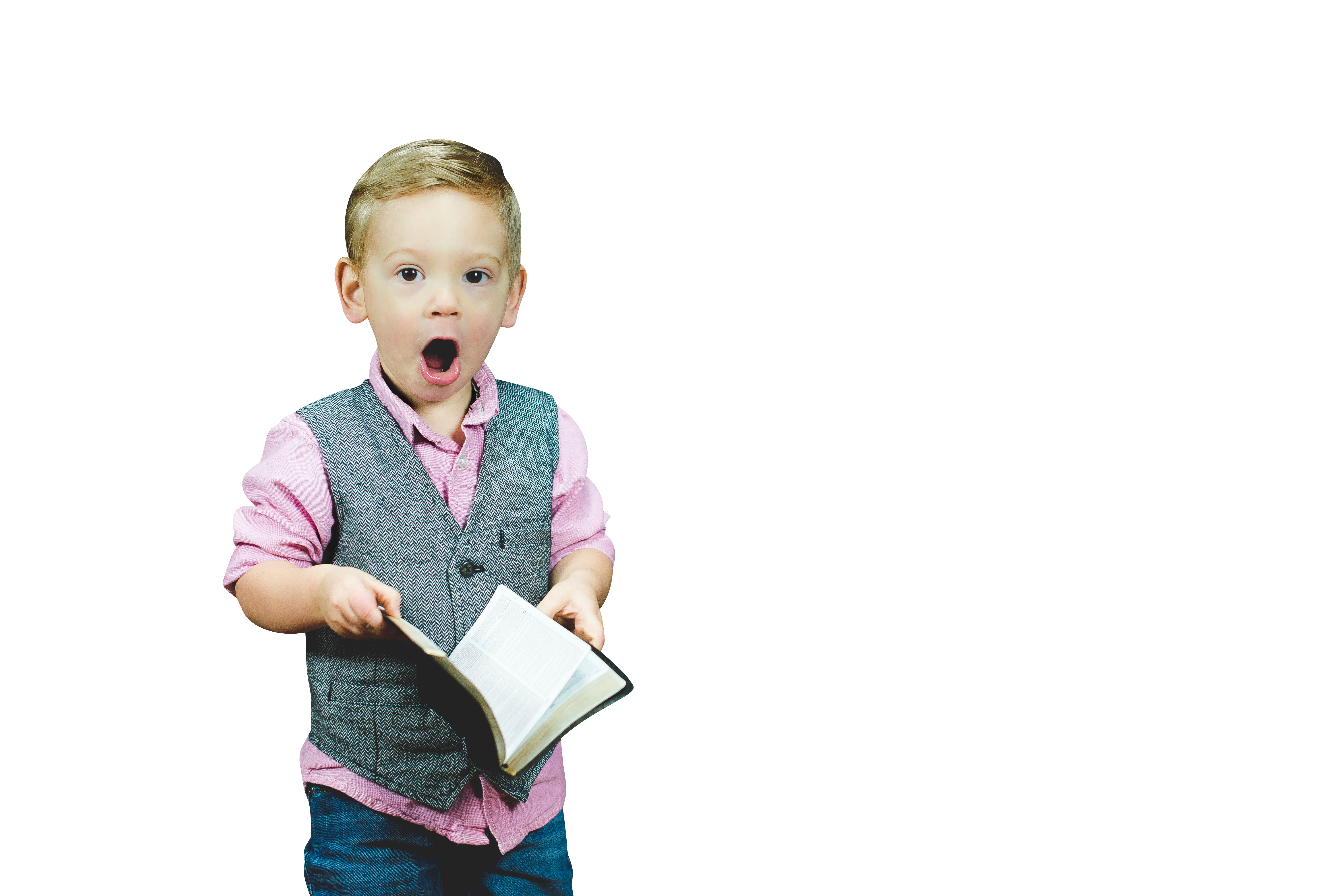 Child In Amazement Transparent Background PNG