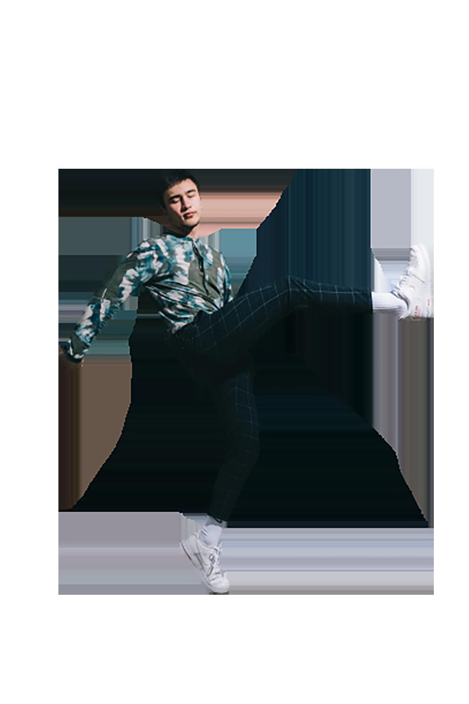 A handsome boy dancing transparent background PNG