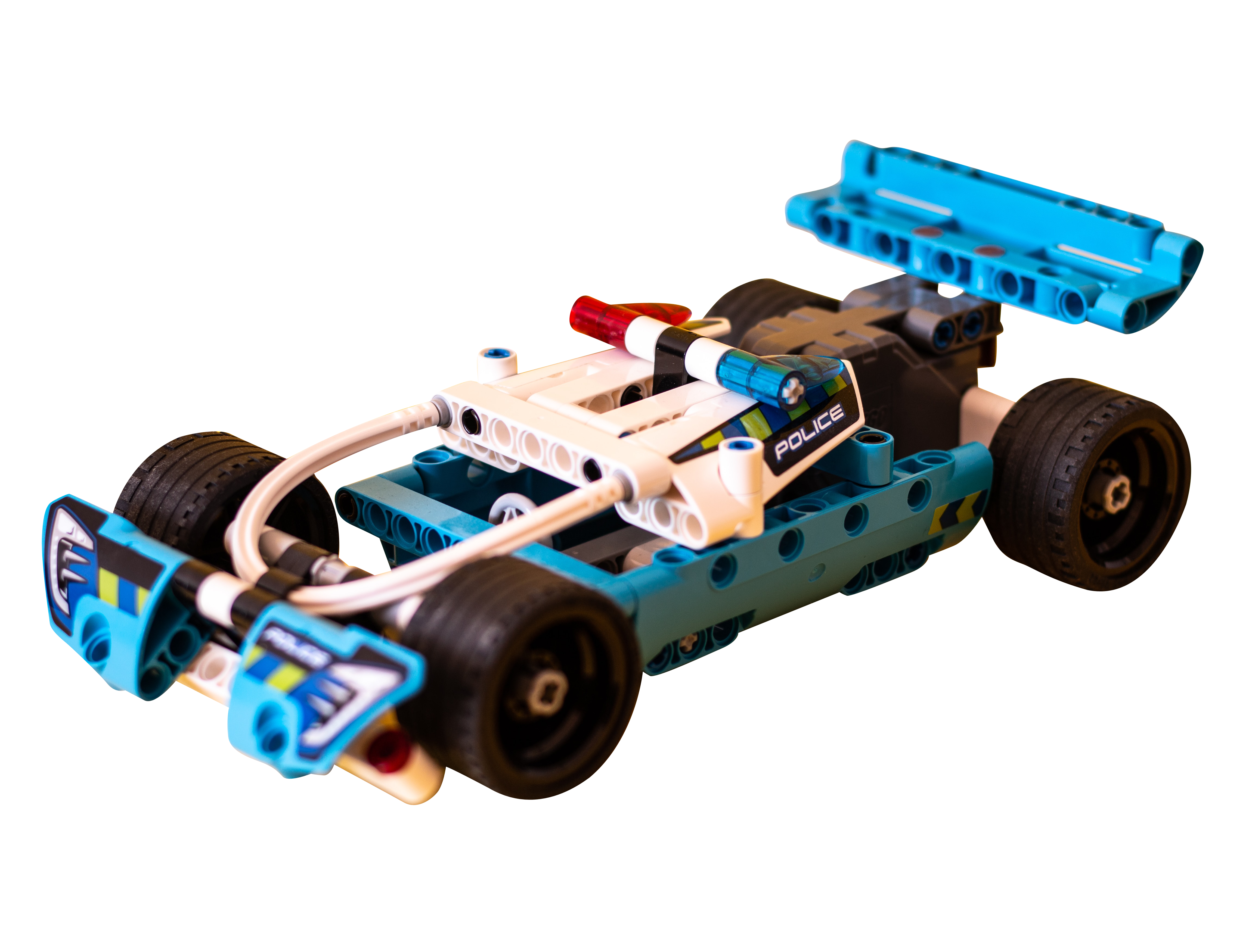 White and Blue Race Car Toy Transparent Background PNG