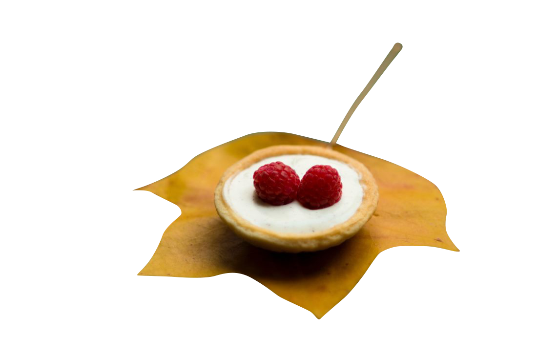 Cake on Autumn Leaf Transparent Background PNG