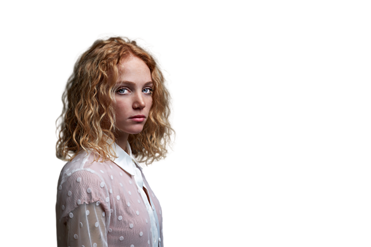 Curl-haired Woman transparent background PNG