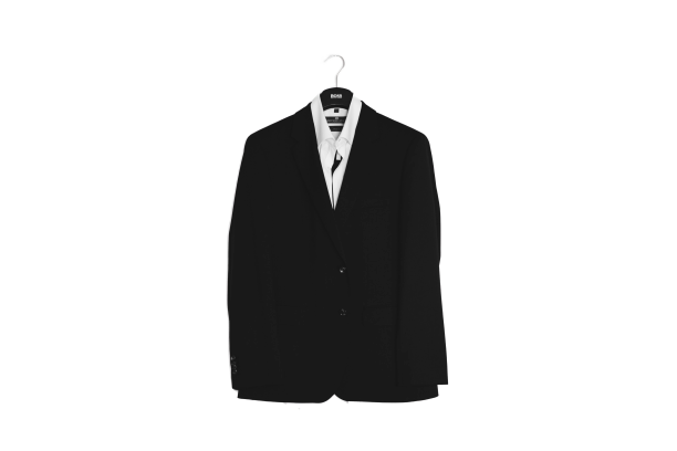 Shirt and Blazer in a hanger transparent background PNG
