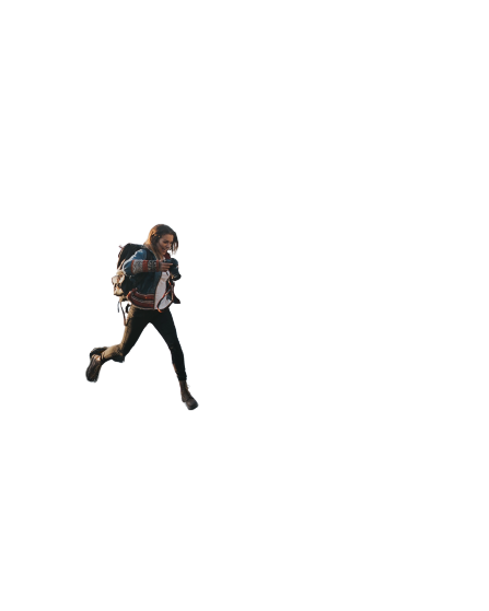 girl running Transparent Background PNG