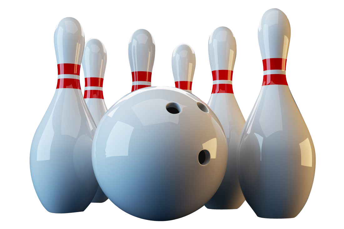 Bowling Ball Pin Transparent Background PNG