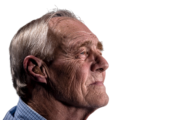 Old man with wrinkled faces sidepose Transparent Background