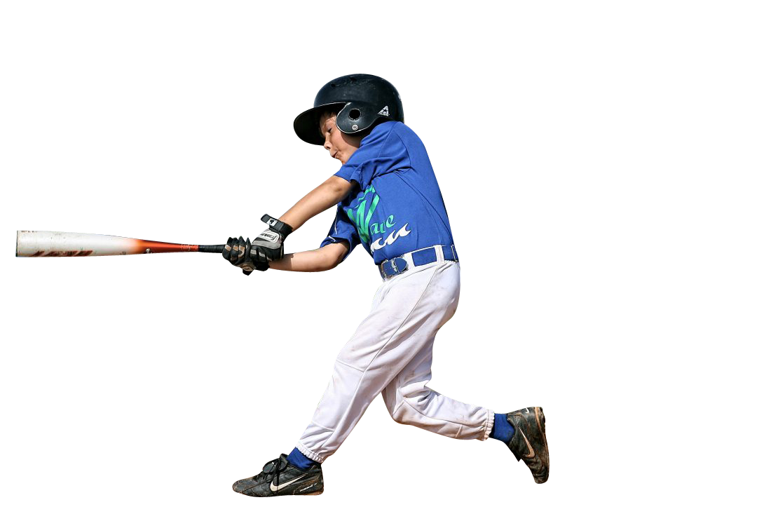 Kid Playing Baseball Transparent Background PNG
