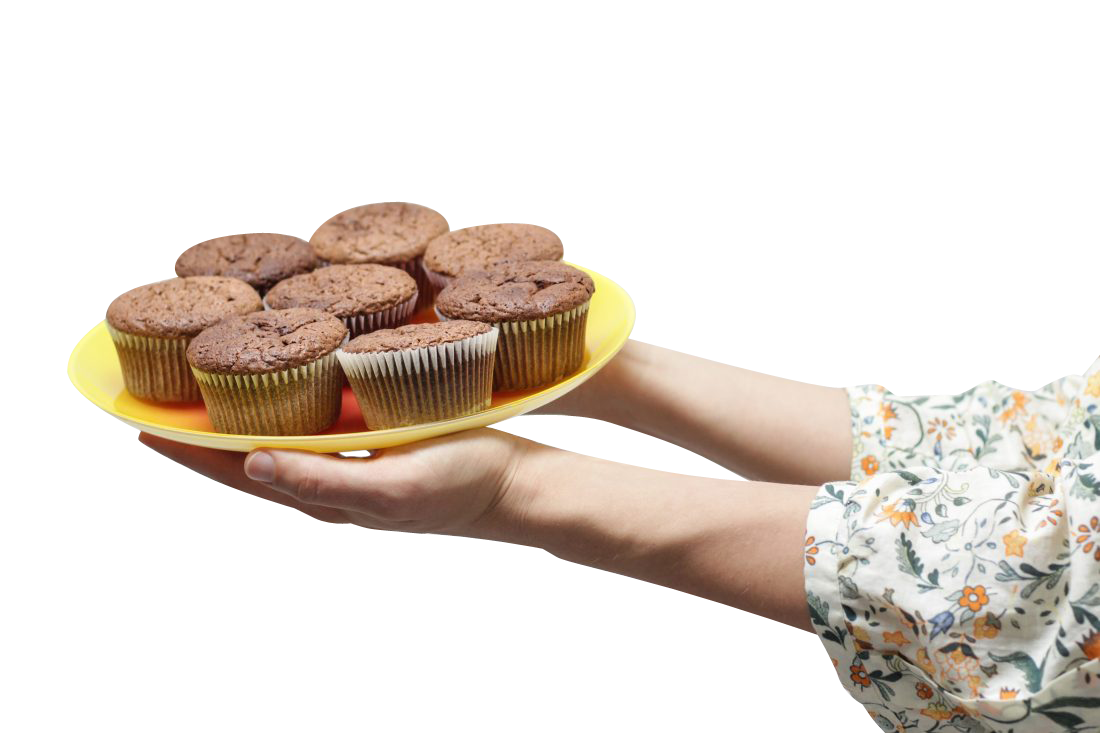 Cup Cakes in Hand Transparent Background PNG