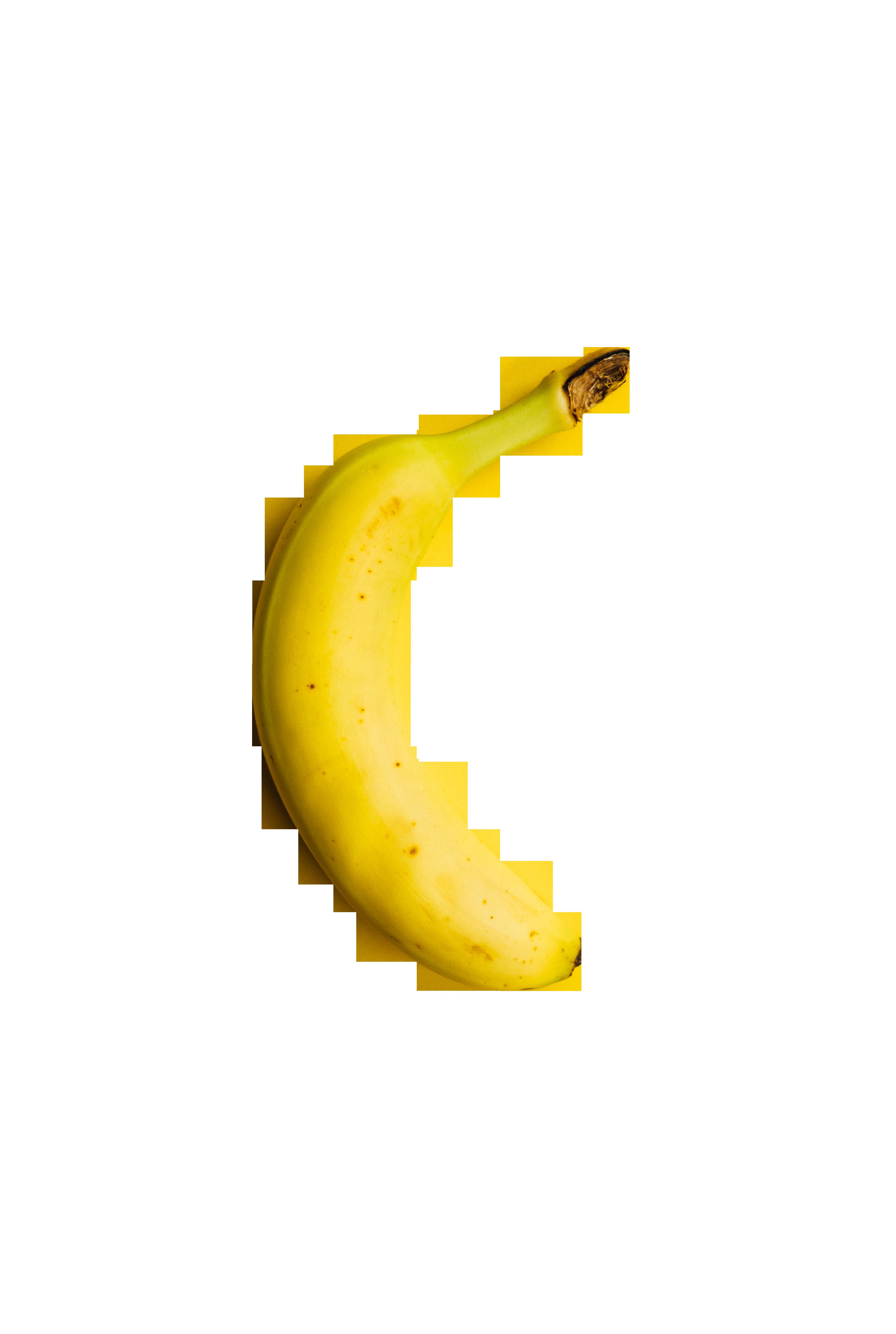Single banana Transparent Background PNG
