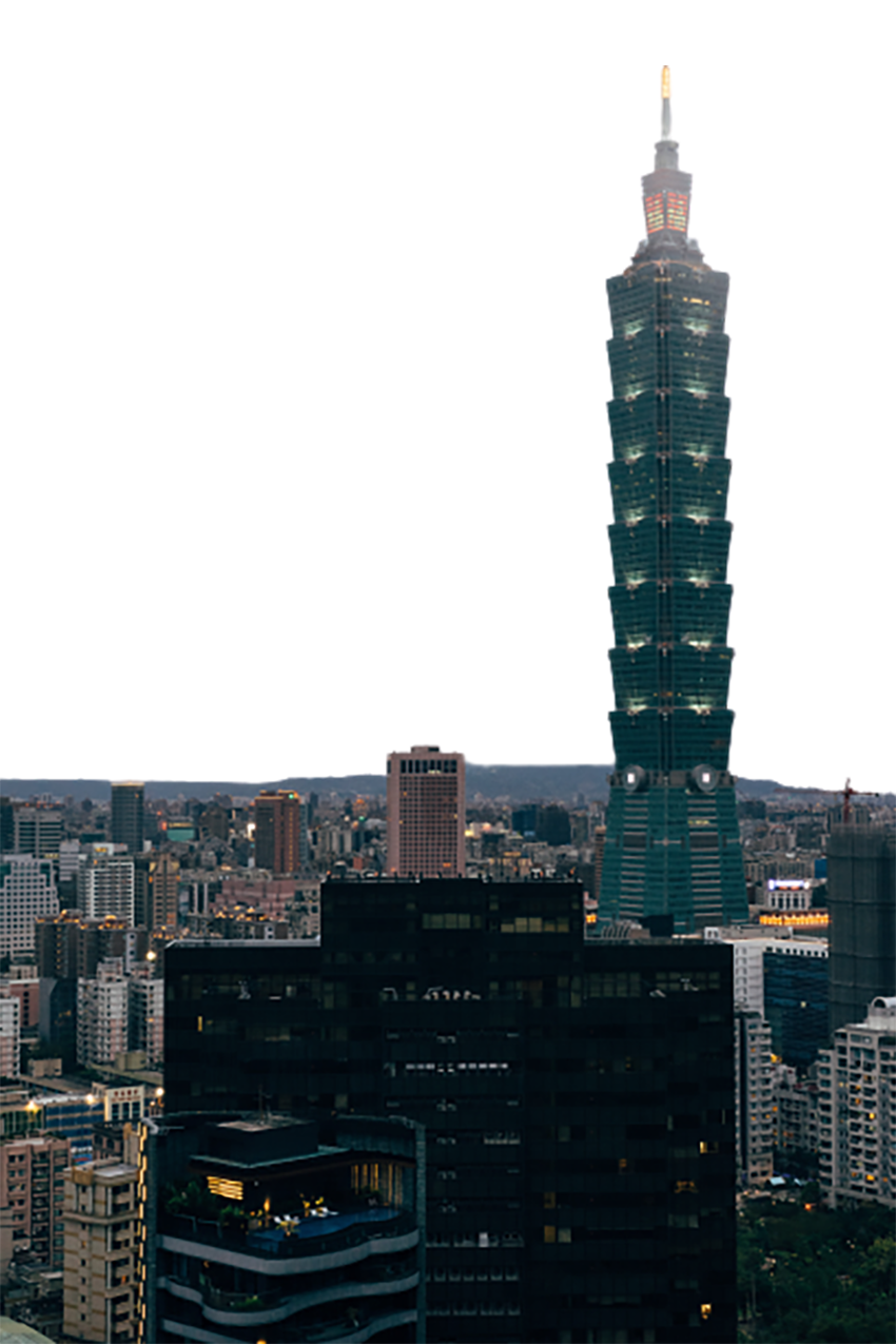 Tall tower in the city transparent background PNG
