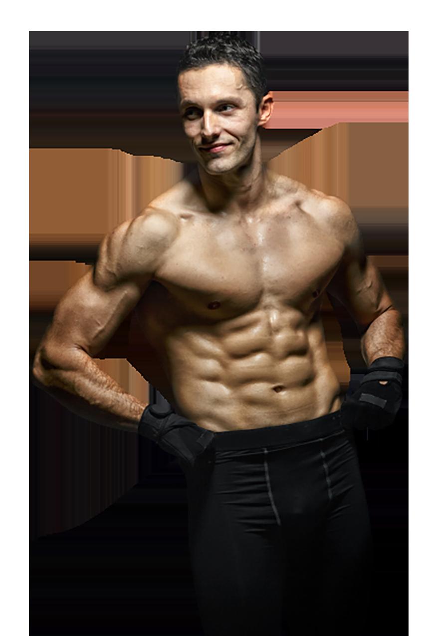 A bodybuilder transparent background PNG