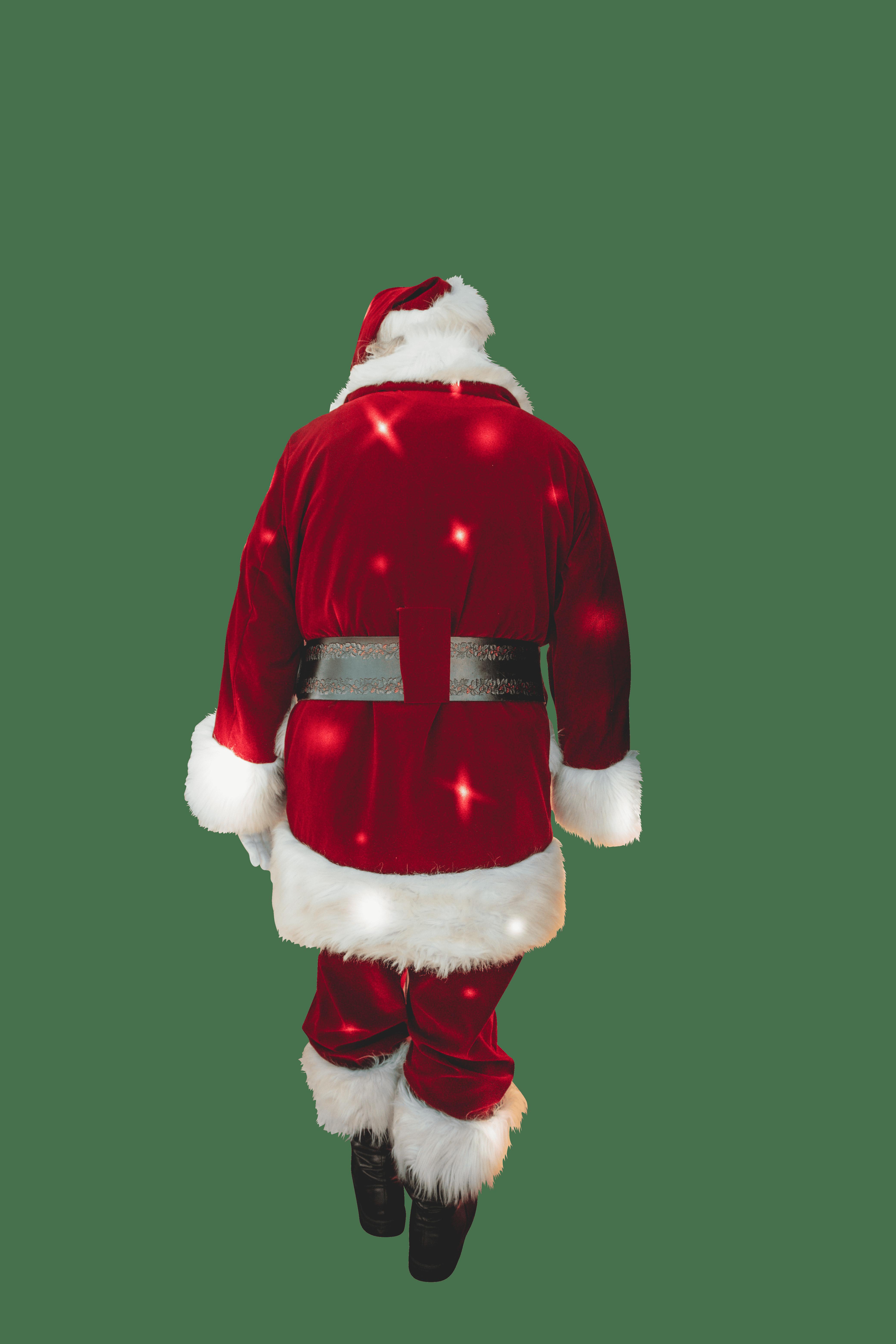Santa Claus back view transparent background.png