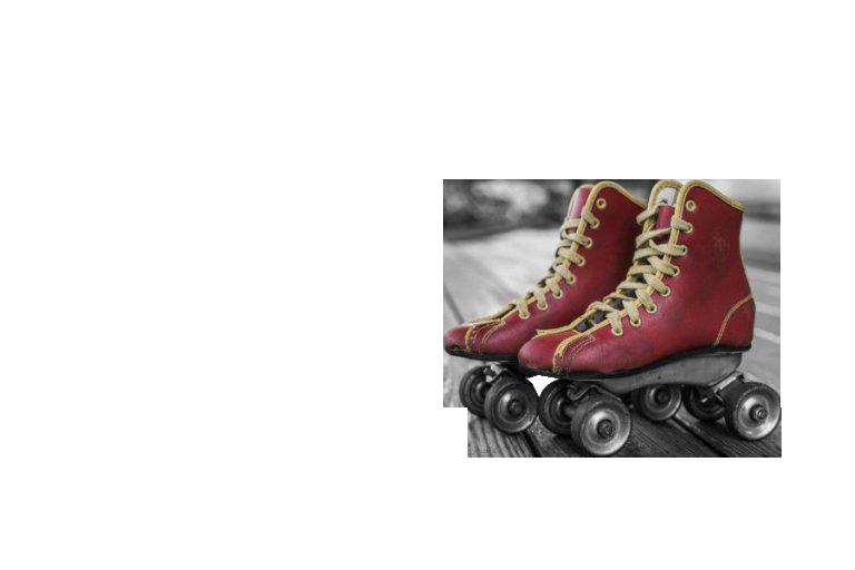 Roller skates red Transparent Background PNG