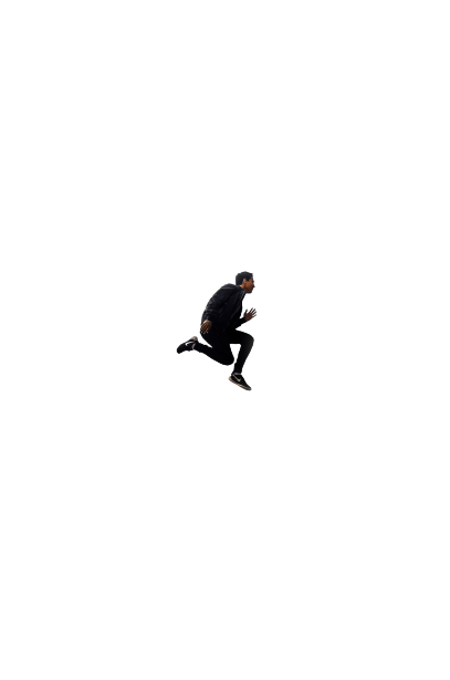 men jump in the air transparent background PNG