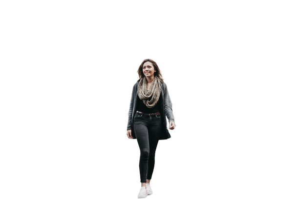 Girl wearing jeans and blazers Transparent Background PNG