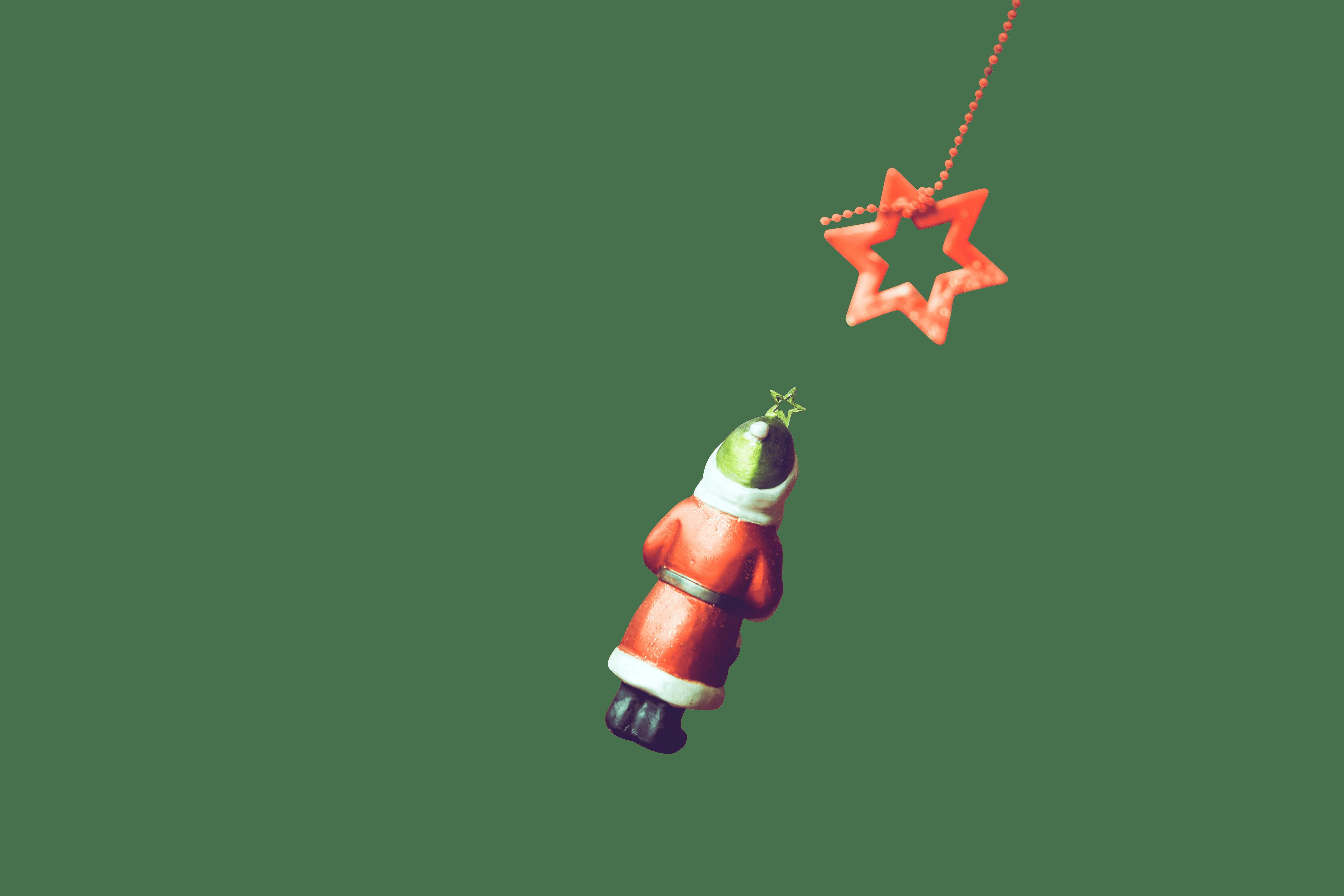 Vintage santa and star christmas ornaments transparent background.png