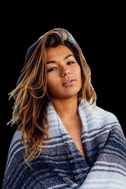 Girl in blanket Transparent 2 Background PNG