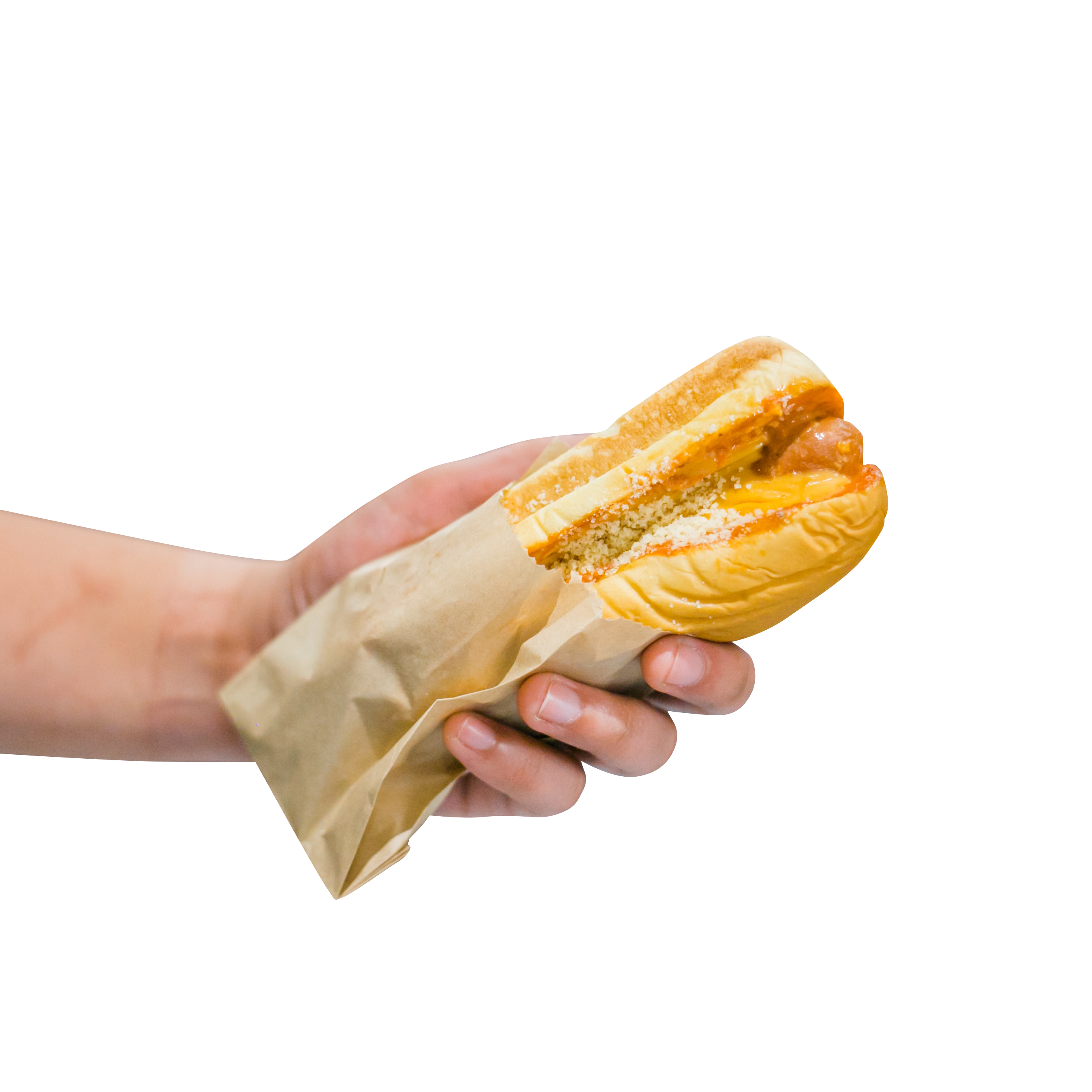 Hot Dog in Hand Transparent Background PNG