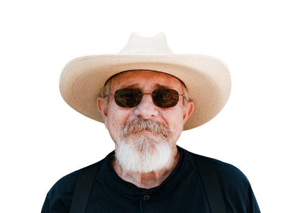Old man with hat Transparent Background PNG