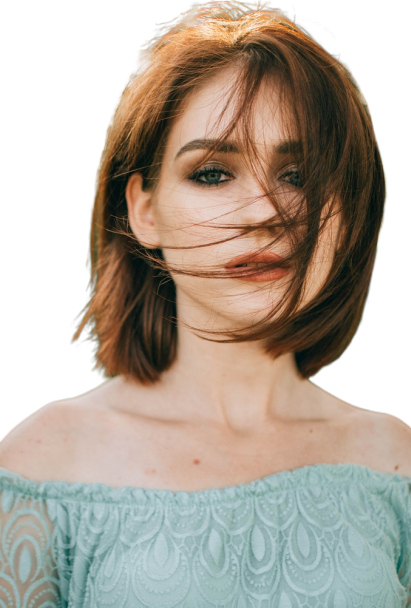 Girl in wind transparent background free creative commons png