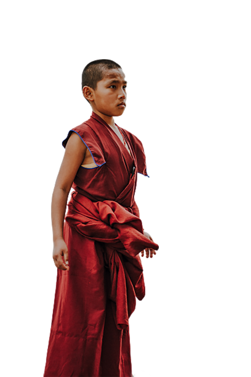 A child monk transparent background PNG