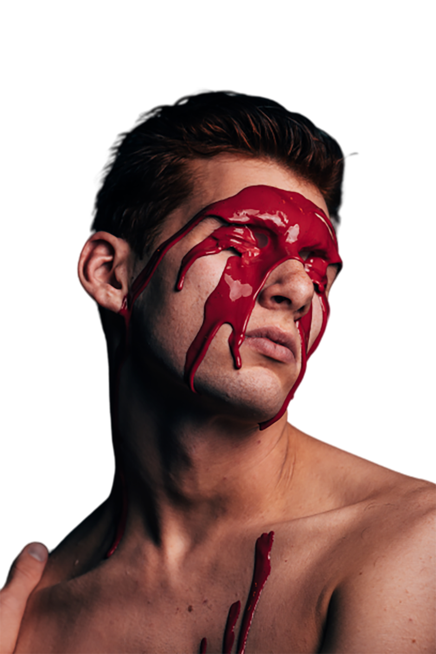 Blood in face transparent background PNG