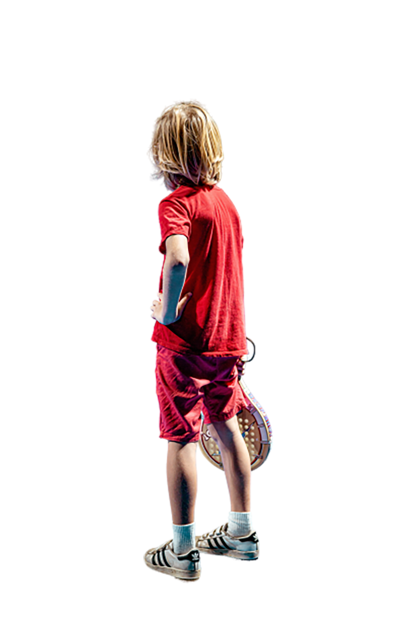 A boy in a red dress transparent background PNG