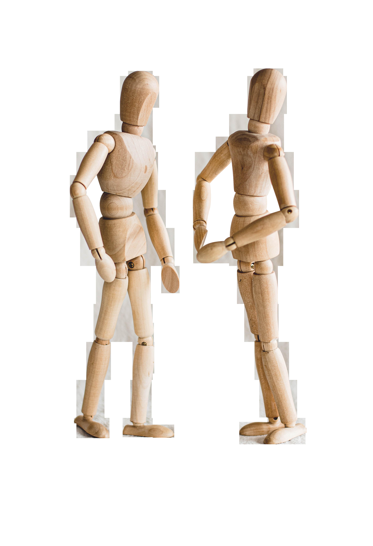 Human Wood Mannequin Transparent Background PNG