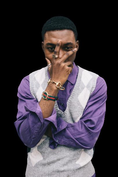 Man wearing purple-white dress transparent background PNG