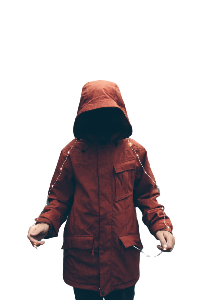 Anonymous person wearing jacket Transparent Background PNG